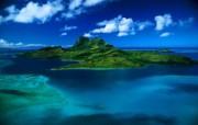 大自然纯朴之美 蓝天白云下的迷人小岛壁纸图片壁纸 大自然纯朴之美 风景壁纸