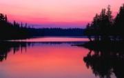 大自然纯朴之美 日落晚霞湖泊倒影壁纸图片壁纸 大自然纯朴之美 风景壁纸