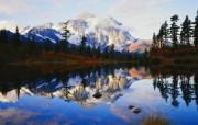 大自然纯朴之美 雪山湖泊倒影风景壁纸图片壁纸 大自然纯朴之美 风景壁纸