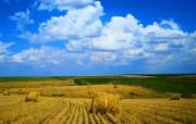 大自然纯朴之美 秋天收获的天野壁纸图片壁纸 大自然纯朴之美 风景壁纸