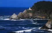 大自然纯朴之美 海滩上的灯塔壁纸图片壁纸 大自然纯朴之美 风景壁纸