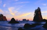 大自然纯朴之美 黄昏石滩壁纸图片壁纸 大自然纯朴之美 风景壁纸