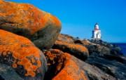 海岸灯塔 高清风光壁纸 风景壁纸