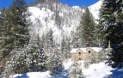 宽屏冬日雪景桌面壁纸 风景壁纸