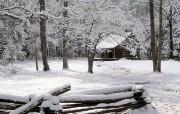 浪漫雪景壁纸 风景壁纸