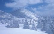 茫茫雪山雪山山脉 风景壁纸