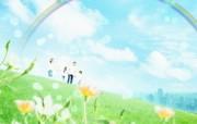 梦幻大自然绿色环境主题PS壁纸 风景壁纸