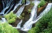 瀑布溪流 风景壁纸