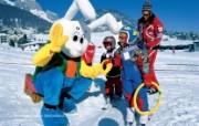 瑞士冬季旅游景点壁纸 风景壁纸