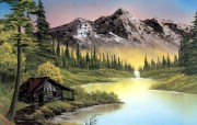手绘风景油画壁纸 风景壁纸