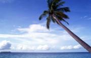 舒服!蔚蓝色大海风景壁纸 风景壁纸