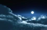 皎洁的月光 云端之上的月亮图片壁纸 The Best of Nature第五集 风景壁纸