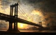 日落下的桥梁 海上桥梁图片壁纸 The Best of Nature第五集 风景壁纸