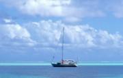 蔚蓝色大海 风景壁纸