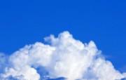 白云朵朵 蓝天白云壁纸 蔚蓝天空蓝天白云壁纸 风景壁纸