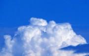 棉花般的白云 蓝天白云图片 蔚蓝天空蓝天白云壁纸 风景壁纸