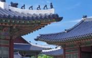 Windows 7世界名胜高清壁纸 亚洲篇 韩国 景福宫的屋顶 Palace Rooftops in Gyeongbokgung Korea Windows 7世界名胜高清壁纸亚洲篇 风景壁纸