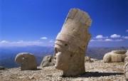 Windows 7世界名胜高清壁纸 亚洲篇 土耳其 人头石山的巨神头像 Colossal Head of Antiochus I Mount Nemrut Adiyaman Turkey Windows 7世界名胜高清壁纸亚洲篇 风景壁纸