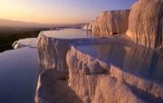 Windows 7世界名胜高清壁纸 亚洲篇 土耳其 棉花堡温泉 Pamukkale Denizli Turkey Windows 7世界名胜高清壁纸亚洲篇 风景壁纸