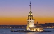 Windows 7世界名胜高清壁纸 亚洲篇 土耳其 伊斯坦布尔的克兹塔Kiz Kulesi Istanbul Turkey Windows 7世界名胜高清壁纸亚洲篇 风景壁纸