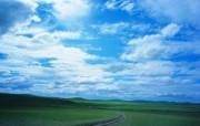 夏日广阔草原风光 蓝天白云草原风光壁纸图片壁纸 夏日广阔草原风光 风景壁纸