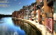 西班牙Girona HDR风格宽屏壁纸 壁纸1 西班牙Girona 风景壁纸