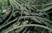 上帝之眼 Yann Arthus Bertrand 扬恩 亚瑟空中摄影奇景壁纸北美篇 鸟瞰美国 洛杉矶高速公路互通立交图片壁纸 扬恩・亚瑟空中摄影奇景 北美篇 风景壁纸