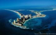 上帝之眼 Yann Arthus Bertrand 扬恩 亚瑟空中摄影奇景壁纸北美篇 鸟瞰墨西哥 加勒比海旁的彭塔坎昆图片壁纸 扬恩・亚瑟空中摄影奇景 北美篇 风景壁纸