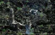 上帝之眼 Yann Arthus Bertrand 扬恩 亚瑟空中摄影奇景壁纸北美篇 鸟瞰墨西哥 帕里库廷火山脚下的天主教堂钟楼图片壁纸 扬恩・亚瑟空中摄影奇景 北美篇 风景壁纸