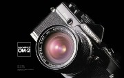Olympus 奥林巴斯相机壁纸 70年经典 下辑 古董相机 Olympus OM 2 相机 Olympus Camera OM 2 Camera 奥林巴斯70年经典相机二 广告壁纸