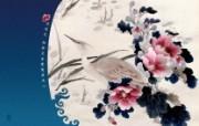 古色古香 北京故宫博物院珍品文物和历届主题展 湘绣芙蓉鹭鸶屏风心图片壁纸 北京故宫博物院珍品文物展 广告壁纸
