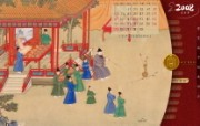古色古香 北京故宫博物院珍品文物和历届主题展 投壶 朱瞻基行乐图卷图片壁纸 北京故宫博物院珍品文物展 广告壁纸
