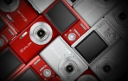 CASIO EXILIM 数码相机广告Desktop Wallpaper of Casio EXILIM Digital Camera CASIO EXILIM 迷你数码相机广告壁纸 广告壁纸