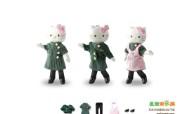 长荣空姐变装娃娃吊饰桌面壁纸 长荣航空Hello Kitty 彩绘机宣传壁纸 广告壁纸