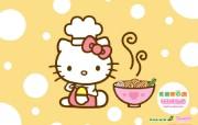 Hello Kitty桌面壁纸 长荣航空Hello Kitty 彩绘机宣传壁纸 广告壁纸