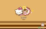 Hello Kitty 冰淇淋礼盒桌面壁纸 长荣航空Hello Kitty 彩绘机宣传壁纸 广告壁纸