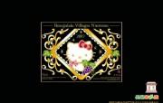 2007年HELLO KITTY薄酒莱村庄级新酒礼盒组桌面壁纸 长荣航空Hello Kitty 彩绘机宣传壁纸 广告壁纸