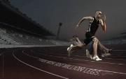 创意平面广告设计 人物篇 I run with 600 million legs Adidas 阿迪达斯平面广告设计 创意广告设计壁纸第六辑人物篇 广告壁纸