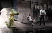 创意平面广告设计 人物篇 鳄鱼 Calle 13频道广告设计 创意广告设计壁纸第六辑人物篇 广告壁纸