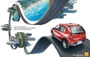 创意平面广告设计壁纸 第七集 发现城市 雷诺RSandero Stepway汽车广告设计 创意平面广告设计壁纸第七集 广告壁纸