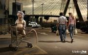 创意平面广告设计壁纸 第七集 意大利品牌Meltin Pot服饰 怪兽系列平面广告 创意平面广告设计壁纸第七集 广告壁纸
