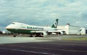 长荣航空波音 747 400壁纸 EVA AIR长荣航空飞机机型壁纸 广告壁纸