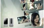 姜东元 金泰熙 玄彬代言的 金泰熙CYON手机壁纸 韩国LG CYON手机广告月历壁纸 广告壁纸