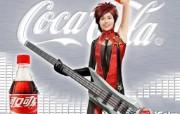 电脑手绘 李宇春图片 李宇春壁纸 可口可乐广告壁纸 广告壁纸