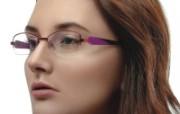 迷人电眼眼镜美女模特高清壁纸 壁纸8 迷人电眼眼镜美女模特 广告壁纸
