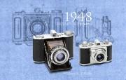 1948年的奥林巴斯古董相机 Olympus Chrome Six I 1948 Olympus 奥林巴斯70年经典相机壁纸上辑 广告壁纸