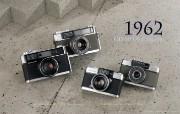 1962年的奥林巴斯古董相机 Olympus Cameras in 1962 Olympus 奥林巴斯70年经典相机壁纸上辑 广告壁纸