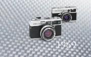 1969年的奥林巴斯古董相机 Olympus Cameras in 1969 Olympus 奥林巴斯70年经典相机壁纸上辑 广告壁纸