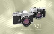 1971年的奥林巴斯古董相机 Olympus Cameras in 1971 Olympus 奥林巴斯70年经典相机壁纸上辑 广告壁纸
