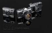 1972年的奥林巴斯古董相机 Olympus Cameras in 1972 Olympus 奥林巴斯70年经典相机壁纸上辑 广告壁纸